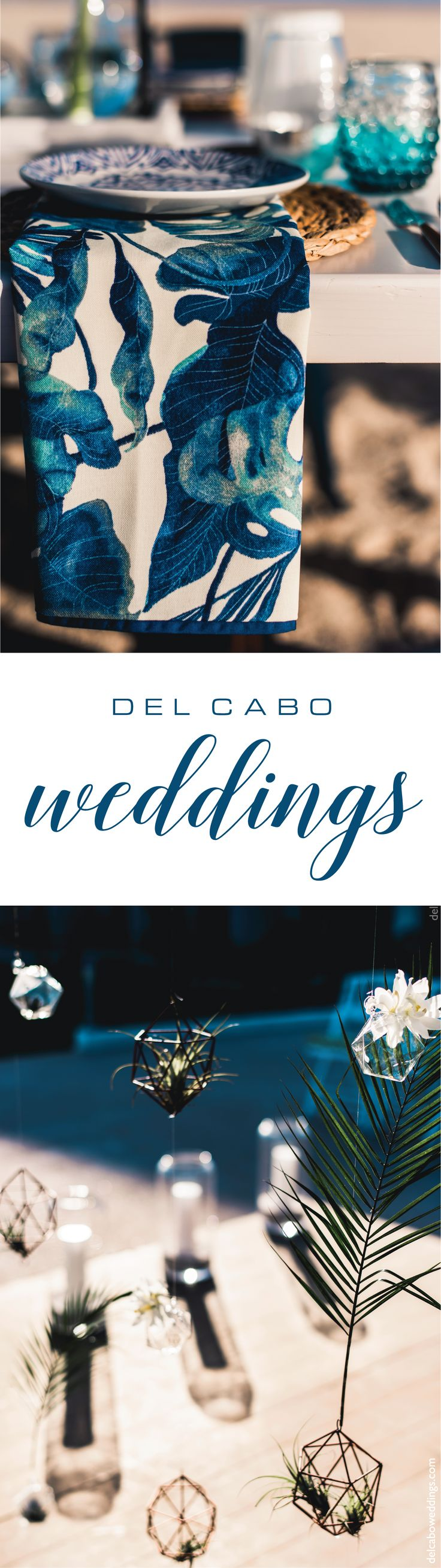 Blue nautical tones ideas and décor for your dream reception. Combine colors and textures for a unique look!