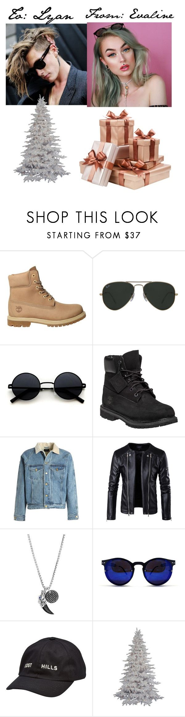 """""""Merry Christmas, Love Evaline"""" by repressed-yeemo-anons ❤ liked on Polyvore featuring Timberland, Ray-Ban, Fear of God, John Hardy, Spitfire and Yeezy by Kanye West"""