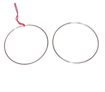 Серебряные серьги - к 10 серьги кольца (конго)