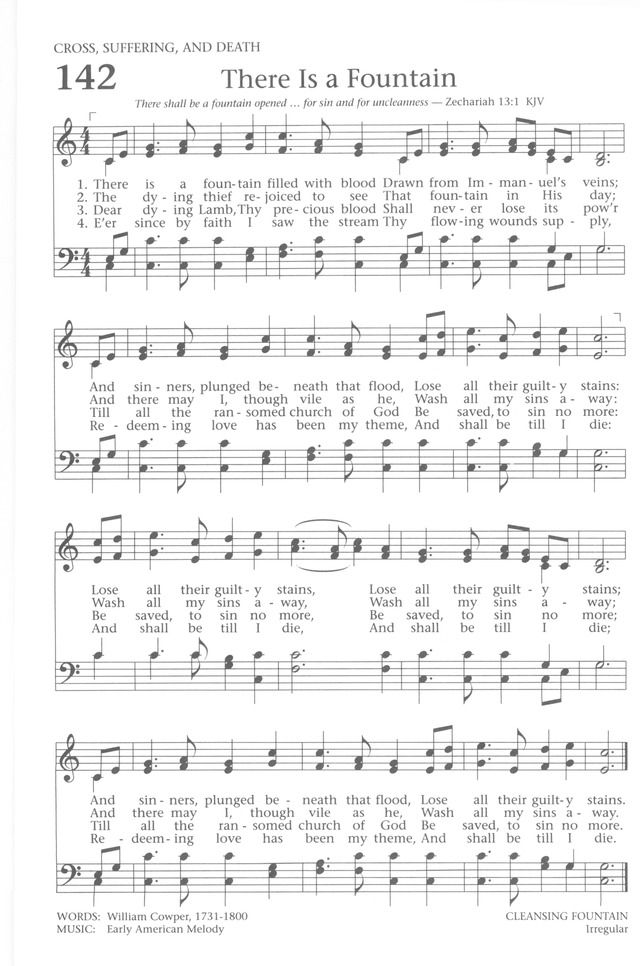 Hymn: There is a fountain filled with blood
