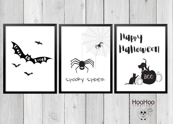Printable Halloween posters:  Scary Bat Spooky by HooHooCreations