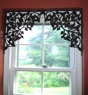 Shelf Brackets Used as Window Treatment | Restore, Recycle, Reuse