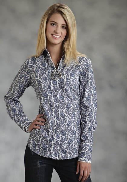 Purple Paisley Haze : Womens Paisley Western Shirt | Free Shippin on Western Shirts