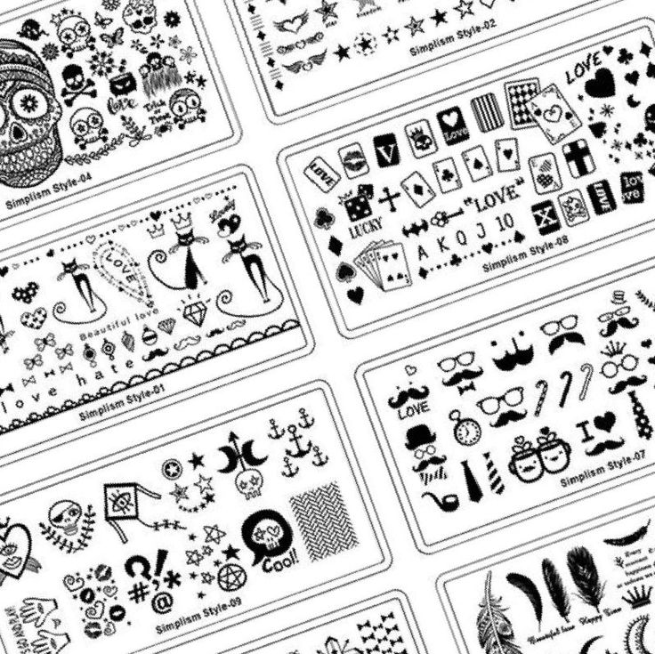 37+ Printable Nail Design Stencils Stencil designs, Nail