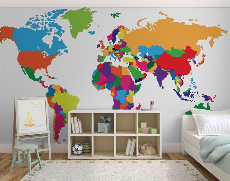 10 best maps wallpaper murals images on pinterest wall murals get creative with childrens bedrooms with our custom made world maps world map colour diy wallpapercustom gumiabroncs Gallery