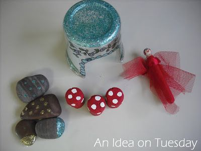 An idea on Tuesday: Making Fairy Land with Recycled Materials