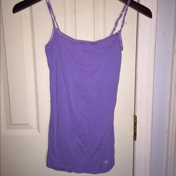 Purple Cami Tank Cami/Tank with built in bra and adjustable straps. Gently worn but still super soft:) Aeropostale Tops Tank Tops