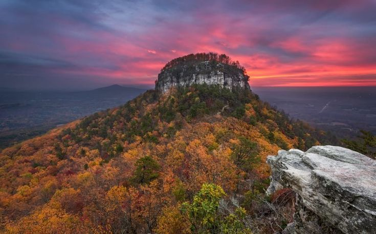 Autumn Sunrise, Pilot Mountain State Park, North Carolina