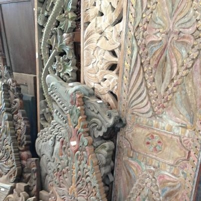 stunning vintage wood panels from Balinese houses