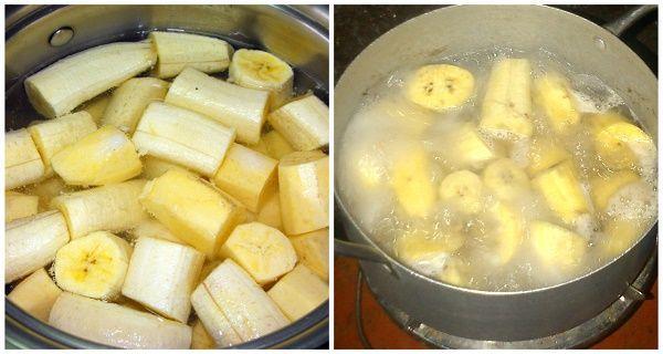 gotowane banany