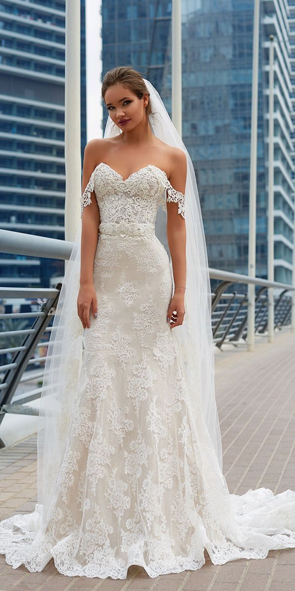 lanesta marriage ceremony clothes off the shoulder strapless lace with veil 2018 #weddingd…