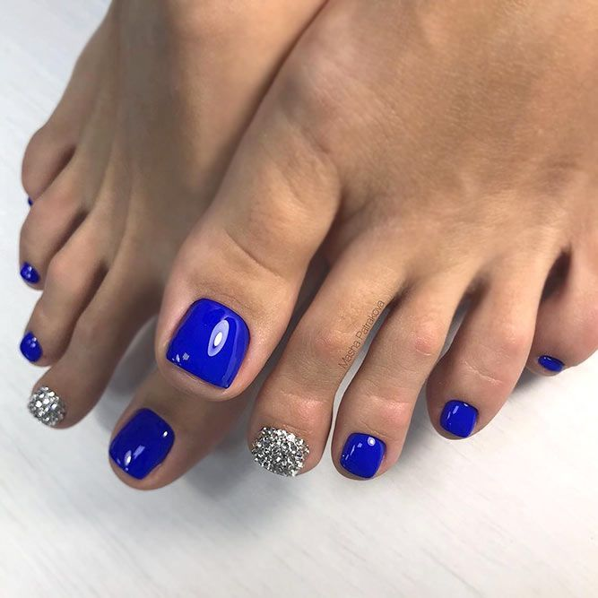 55 Original Toe Nail Colors To Try Out Naildesignsjournal Simple Toe Nails Summer Toe Nails Blue Toe Nails