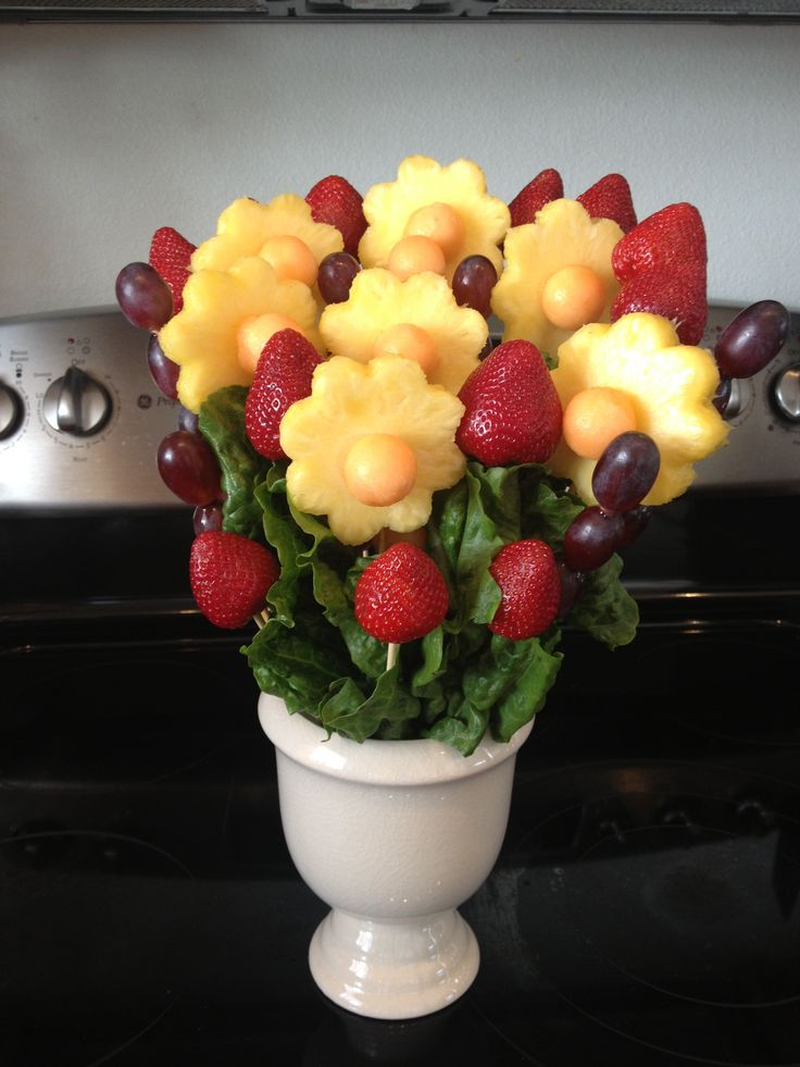 My first try at making an edible bouquet.