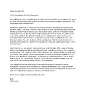 Letter Of Complaint About Co-Worker