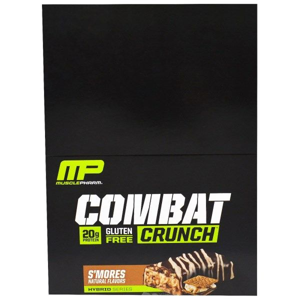 Muscle Pharm, Combat Crunch, S'mores, 12 Bars, 2.22 oz (63 g) Each