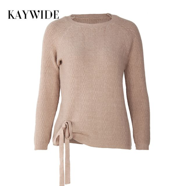 Kaywide 2017 Autumn New Knitted Women Hoodies Fashion Silk Ribbon O Neck Casual Pullover Sweatshirts Ladies Outwear Bowknot Tops #Brand #KAYWIDE #sweaters #women_clothing #stylish_dresses #style #fashion