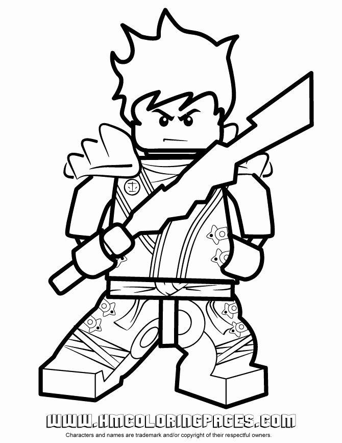 24 Kai Ninjago Coloring Page Kleurplaten Ninjas Lego