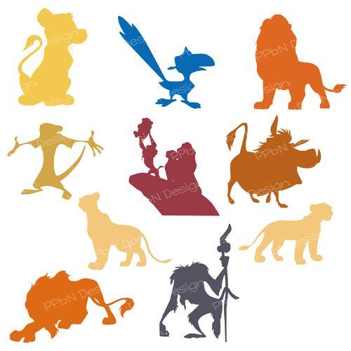 Lion King Shapes Svg Files And Clipart Images 214 Tletek