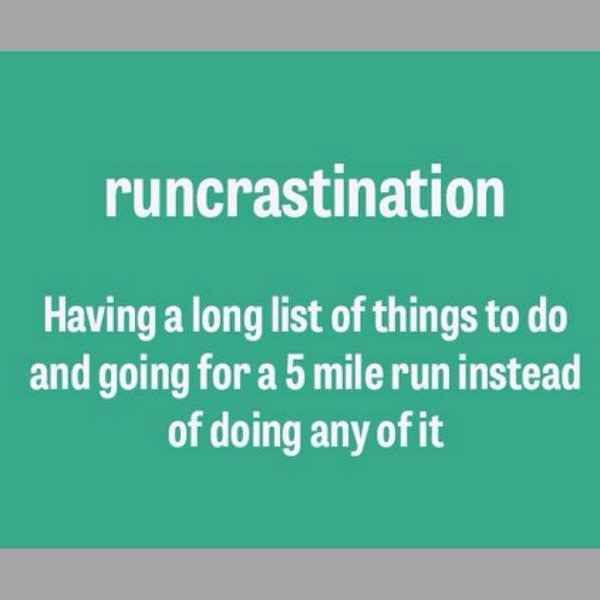 When staying in shape isn't necessarily the ONLY reason you run!