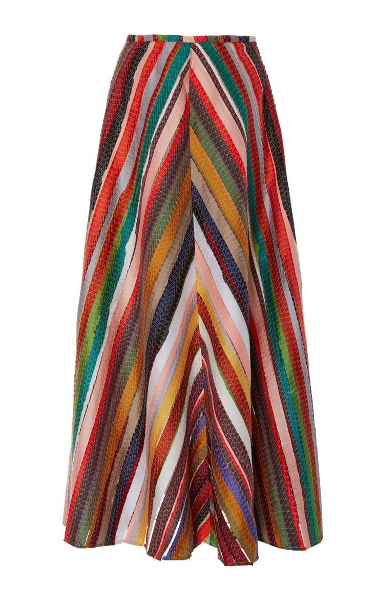 Melted Rainbows A Line Skirt by ROSIE ASSOULIN for Preorder on Moda Operandi
