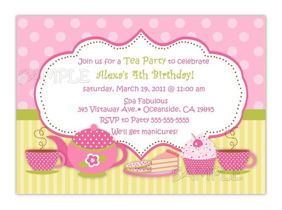 20 best Tea Party Invitation Template images on Pinterest