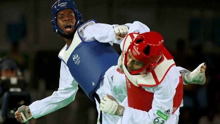 Lutalo Muhammad wins silver in Men's 80 kg taekwondo Rio 2016