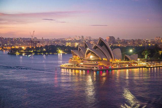 Sydney Opera House from the Harbour Bridge