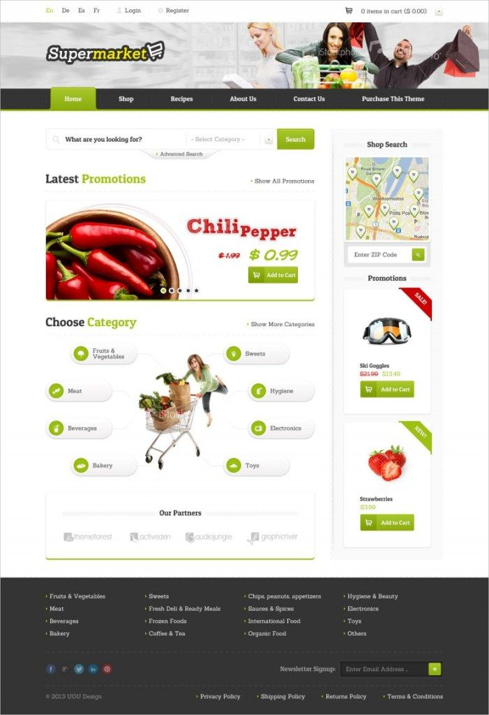 Online Grocery Shopping Website Templates Word Excel Pdf Formats