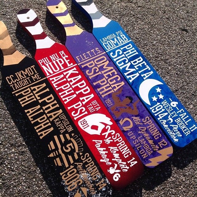 NPHC fraternity paddles                                                                                                                                                                                 More