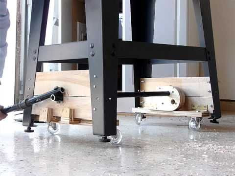 DIY Designs of Retractable Wheels for Tool Bases - Core77