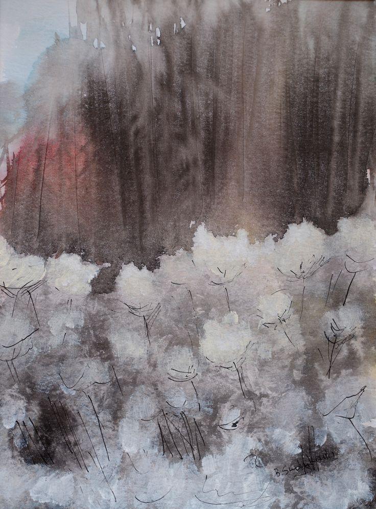 The frosty morning, Bernadeta Sudnikowicz, Akwarela, 40 x 30 cm, 2015