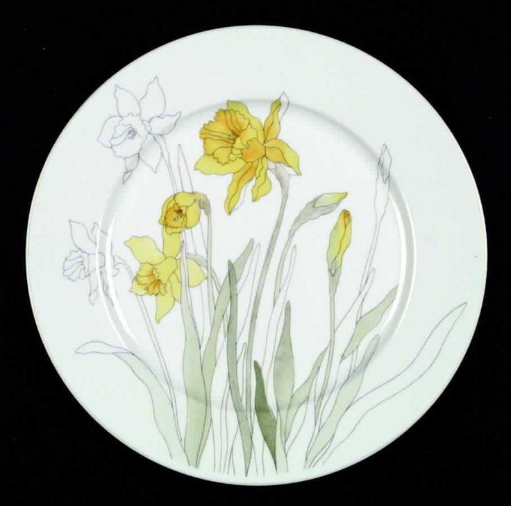 Block China Daffodil Dinner Plate 34422 Ebay China