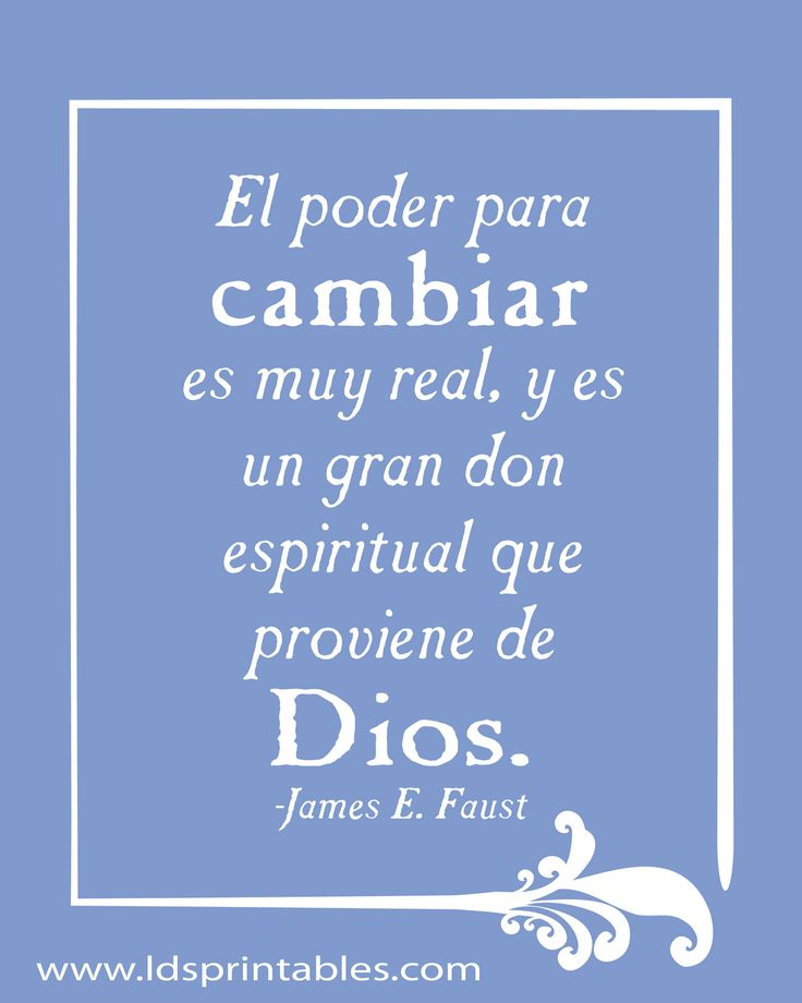 LDS Printables: The Power to Change/El Poder Para Cambiar