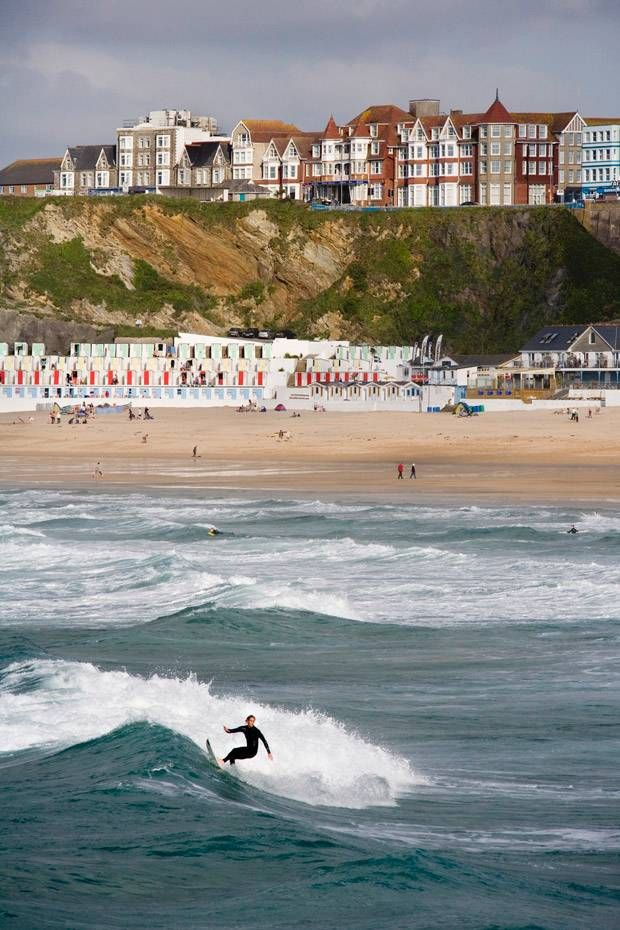 Newquay Cornwall - took some surfing lessons here