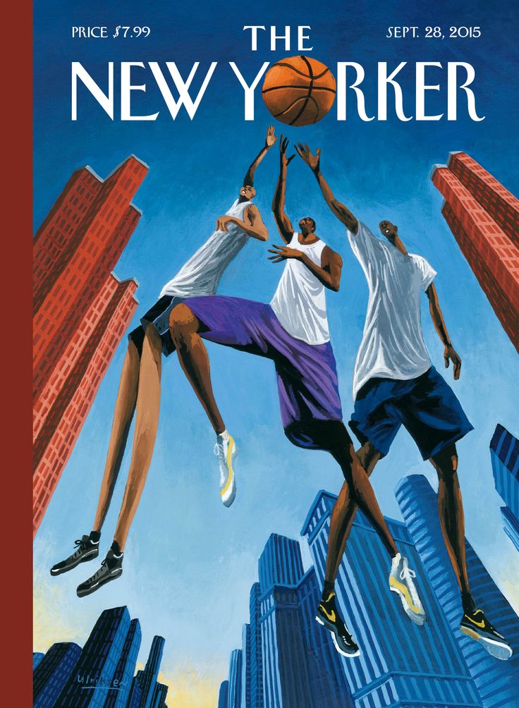 """The New Yorker - Monday, September 28, 2015 - Issue # 4608 - Vol. 91 - N° 29 - Cover """"Streetball"""" by Mark Ulriksen"""