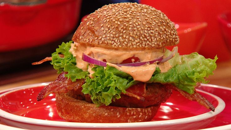 17 best images about burger up on pinterest leather for Blue cheese burger recipe rachael ray