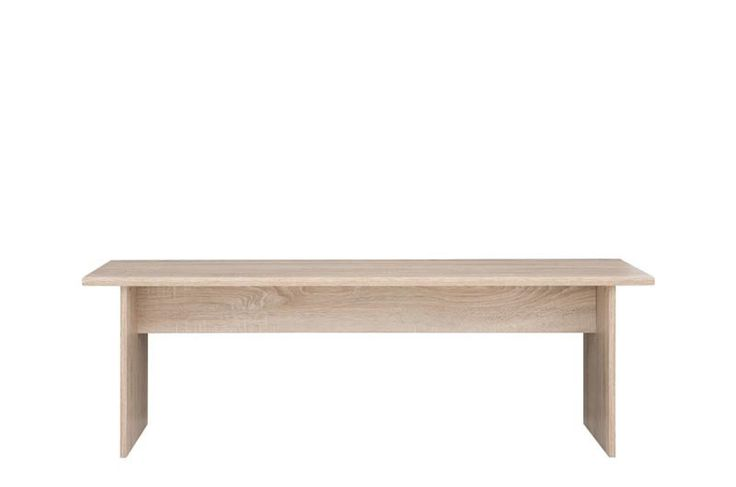 JUNONA LAW/138 Coffee Table Sonoma from JUNONA LINE kitchen.  Dimensions: H:46.5 / W:35 / L:138 cm.  Colour: Sonoma Oak.  Packed flat for home assembly. User-friendly installation guide.