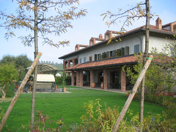 Cascina Barac, an Agriturismo outside Alba, Italy.  It sits in the middle of a Vineyard.
