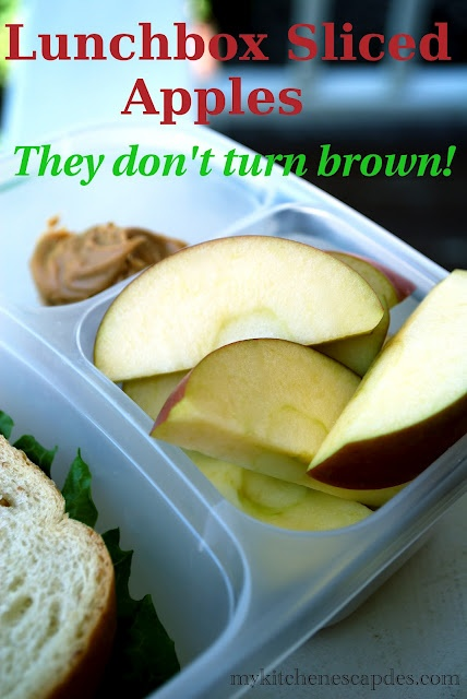 Make these sliced apples that won't turn brown in your kids' lunchbox!