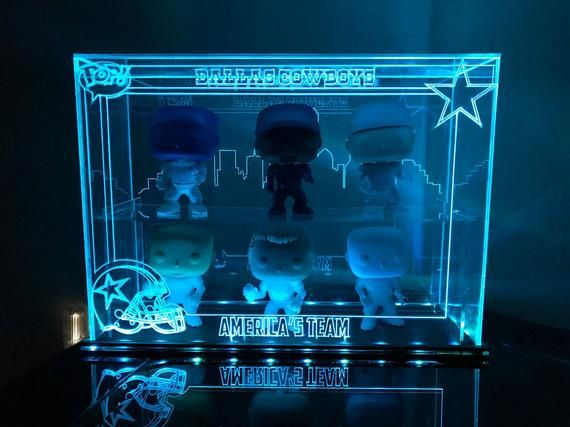Acrylic LED Display Case for Funko Pop, Custom Design, Fits 6 | My