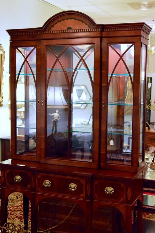 gorgeous cabinet display case by hekman furniture co the charles dickens heritage ltd - Hekman Furniture