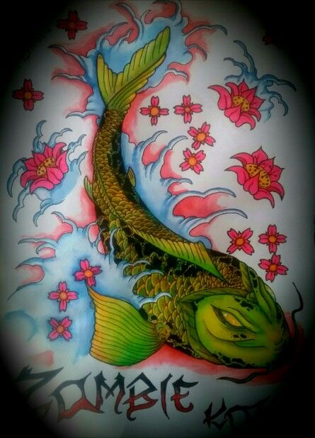 Edited version of my zombie zoi, epic evil zombie koi fish ...