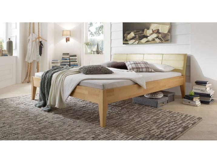 Modernes Bett Leonardo 200x220 Cm Buche Natur Massivholzbett