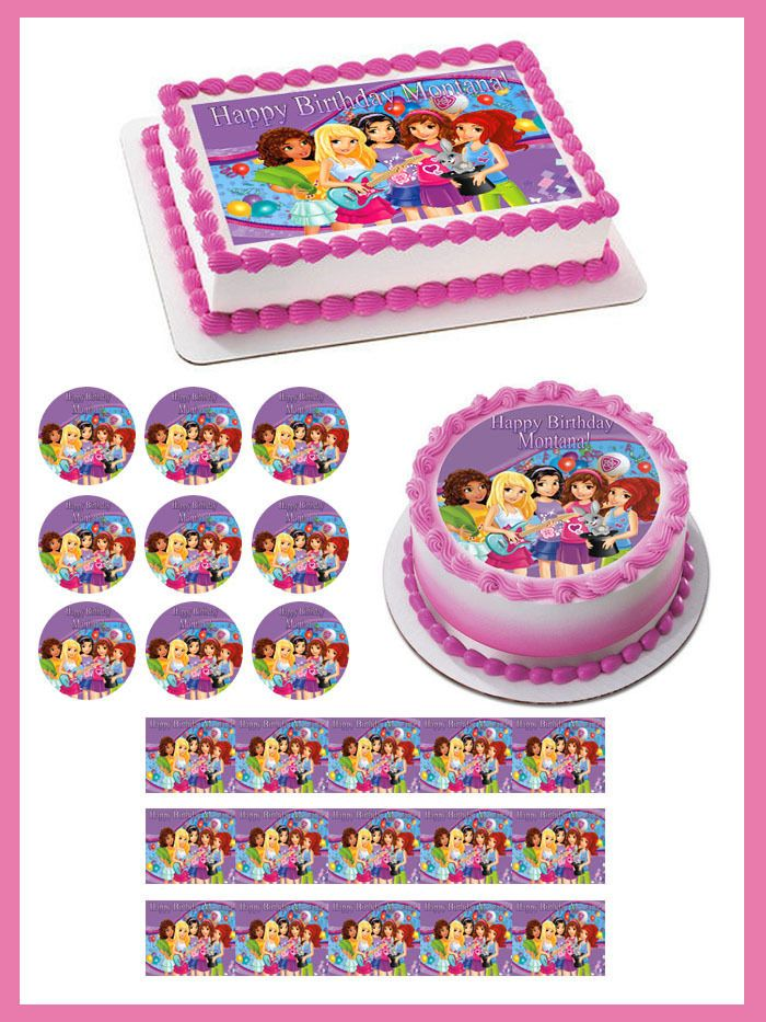 Lego Friends Edible Birthday Cake Topper OR Cupcake Topper, Decor #BirthdayChild