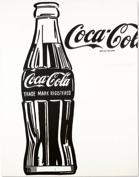 """4. Andy Warhol, """"Coca-Cola [3]"""" von 1962, Kasein auf Baumwolle, 176 mal 137 Zentimeter: Zuschlag bei 51 Millionen Dollar (Taxe 40/60 Milli..."""