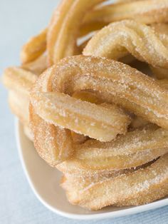 MYO Churros- Whip up this twisty crunchy cinnamon- and sugar-sprinkled classic Mexican pastry in about 20 minutes with this simple 3 ingredient recipe!