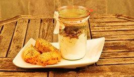 Backmischung im Glas für herzhafte Muffins oder Minibrote Flower Power