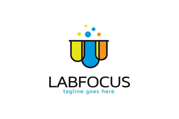 Lab Focus Logo Template Design by gunaonedesign on @creativemarket