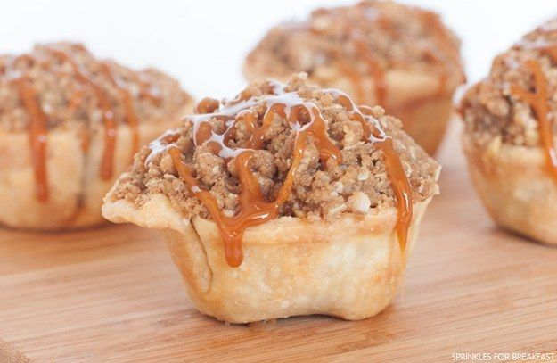 Individual Caramel Apple Pies | Community Post: 27 Ways To Step Up Your Pie Game This Holiday Season