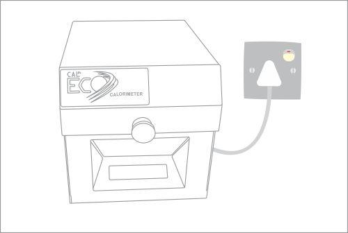 A mains outlet for the CAL2K-ECO Calorimeter - DDS CALORIMETERS